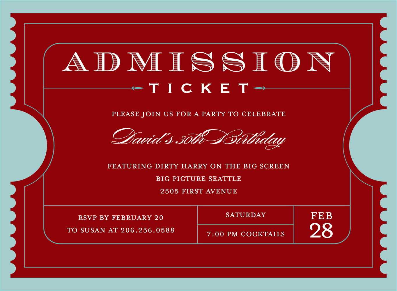 Editable Event Ticket Template Free