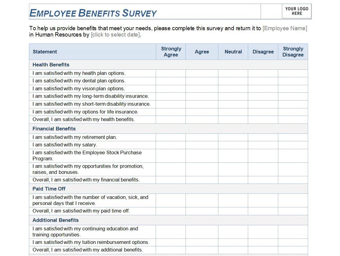 Employee Satisfaction Survey Template Excel