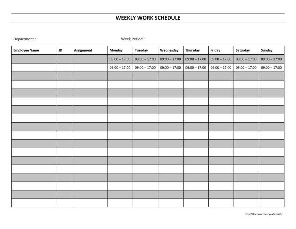 Employee Schedule Maker Template