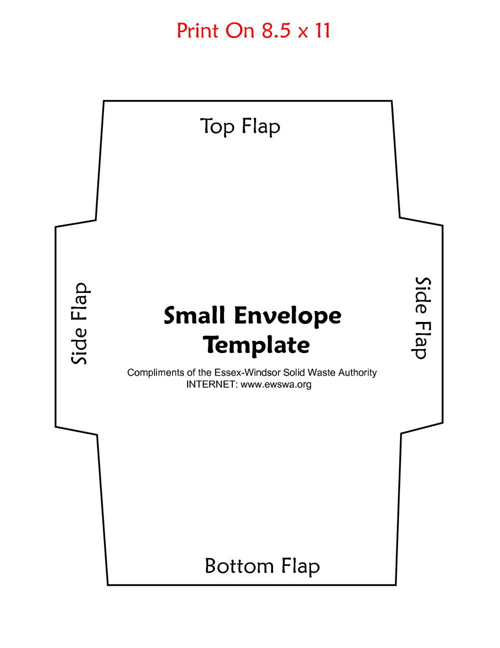 Envelope Printing Template Wordpad