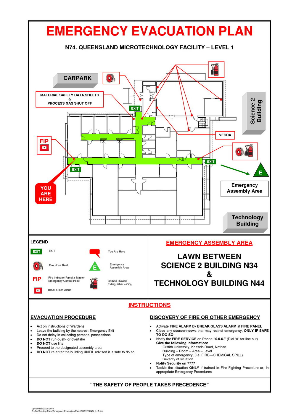 Evacuation Plan Template Free