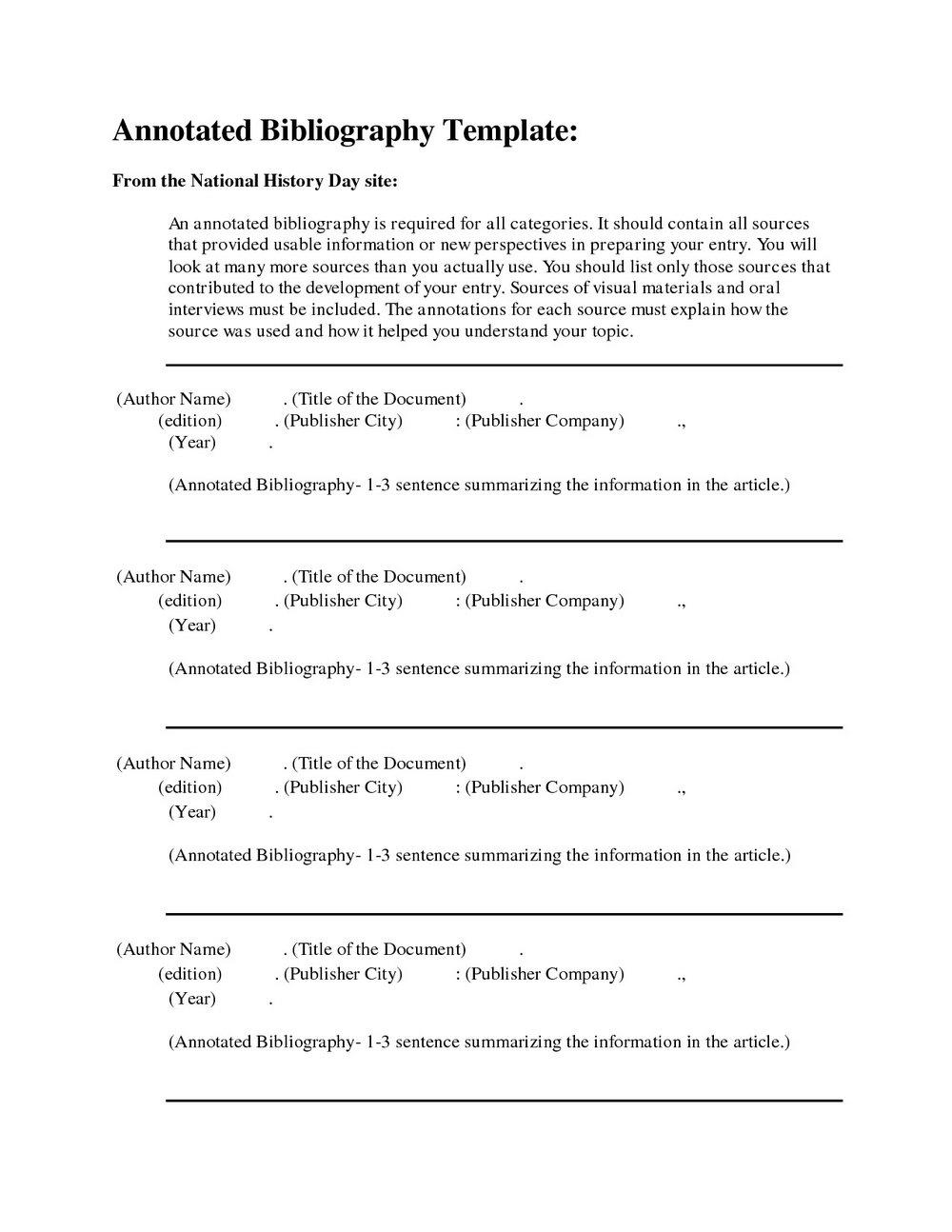 Free Apa Format Template
