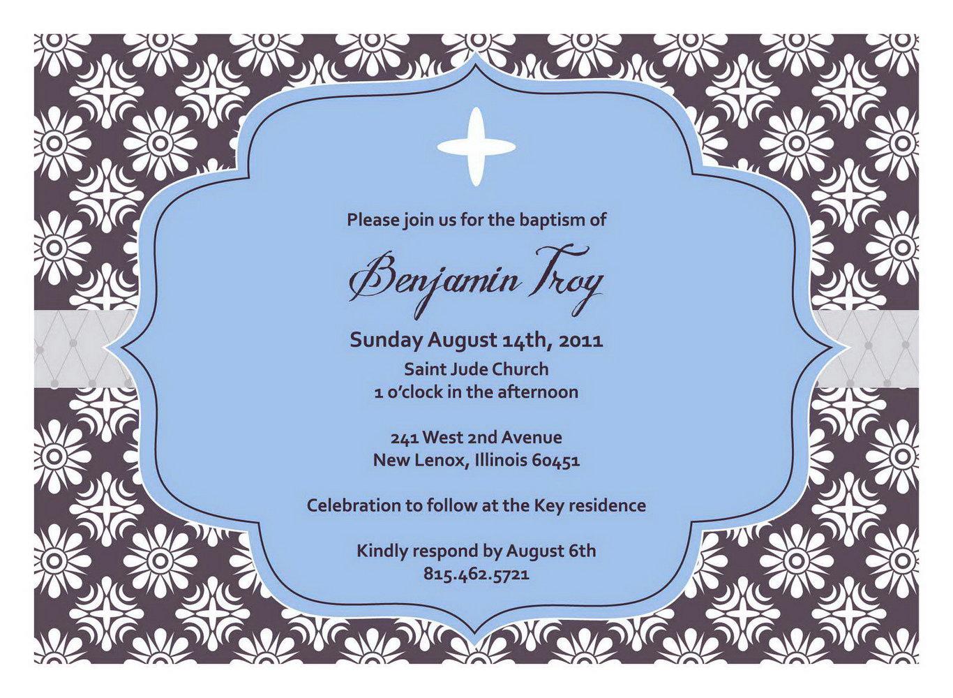 Free Baptism Invitation Templates Printable