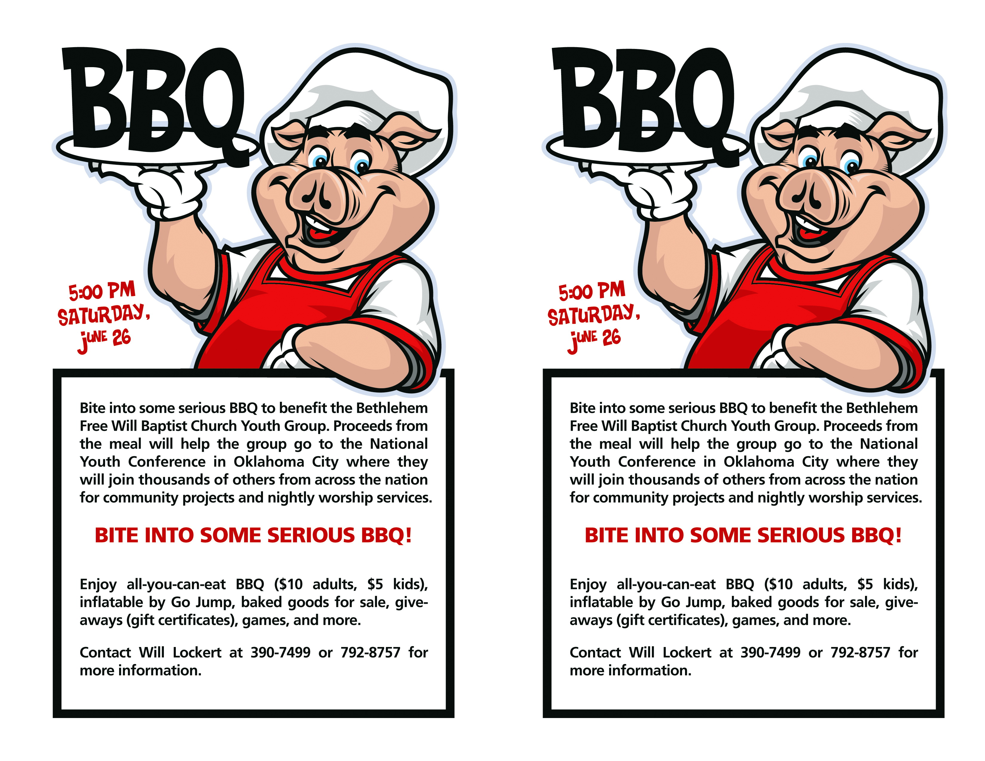 Free Bbq Flyer Template Word