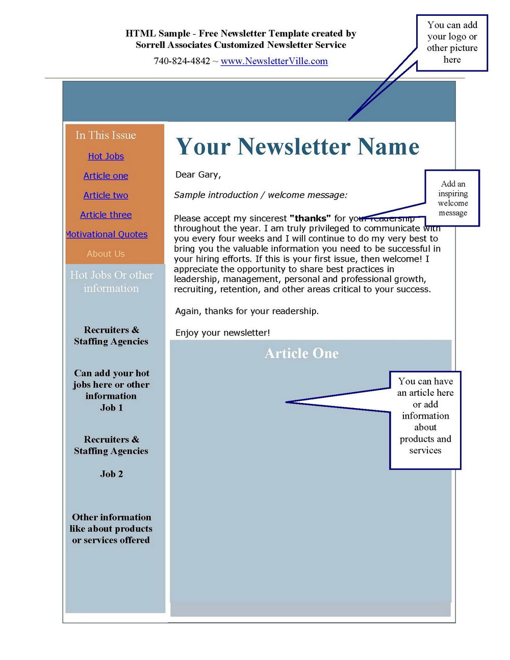 Free Newsletter Templates For Microsoft Word