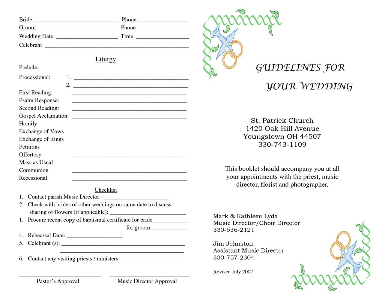 Free Printable Church Program Templates