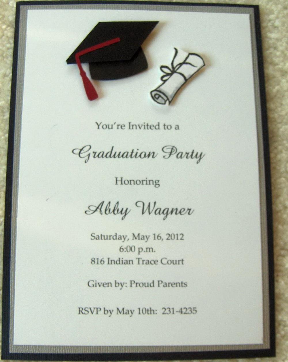 Free Printable Graduation Invitation Templates Cards