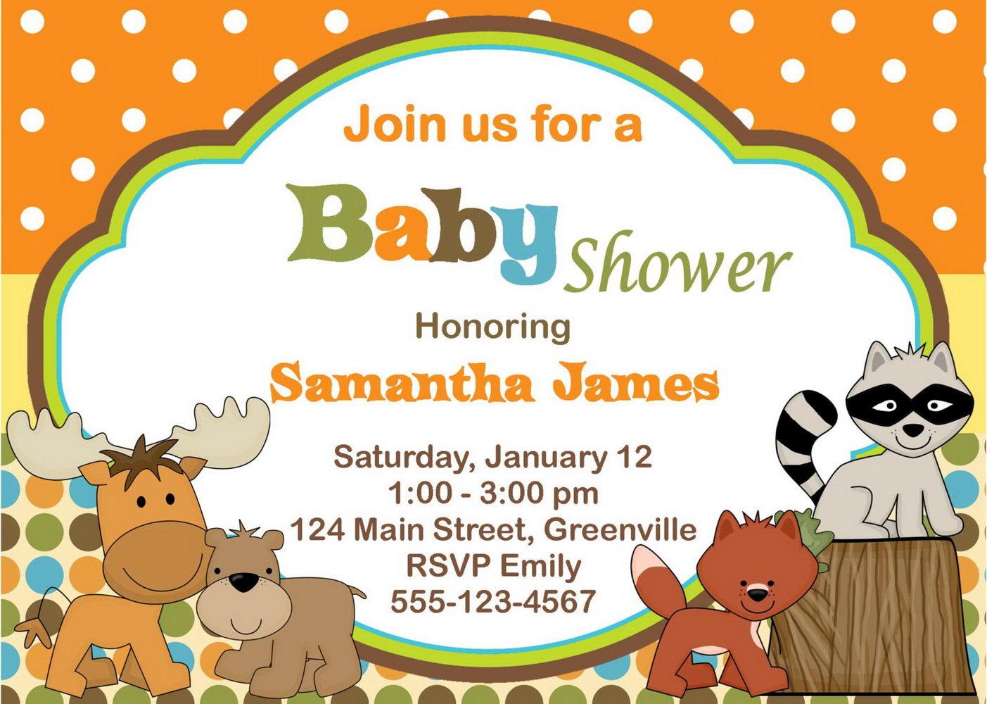 Free Printable Safari Baby Shower Invitation Templates