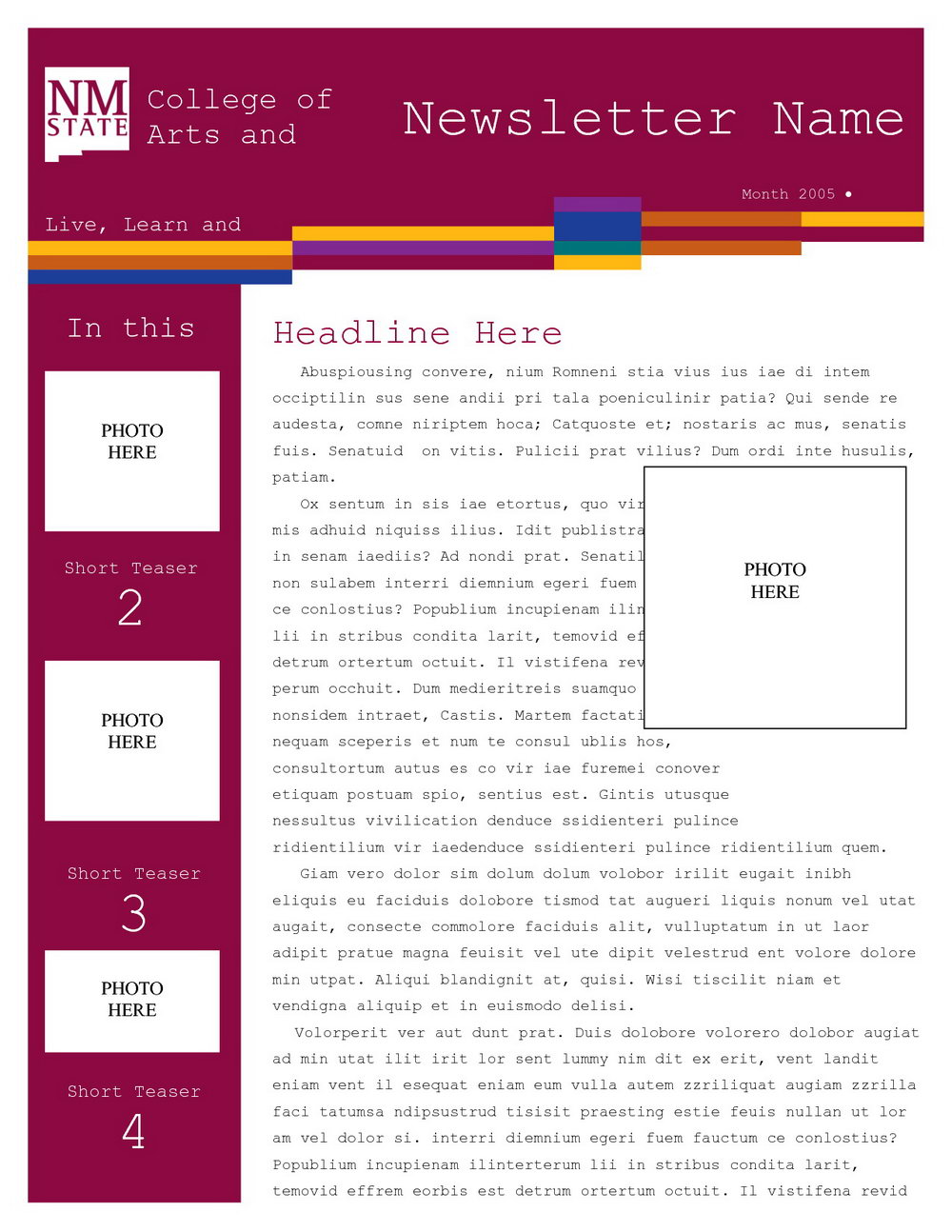 Free School Newsletter Templates For Microsoft Word