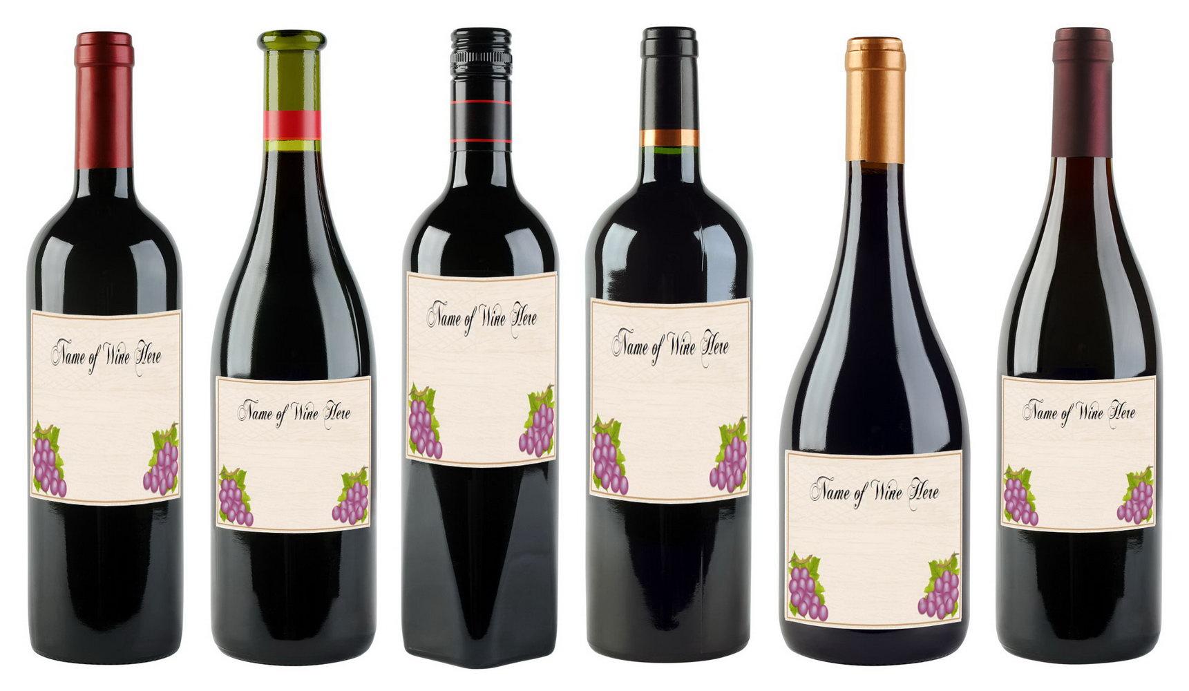 Free Wedding Wine Label Template