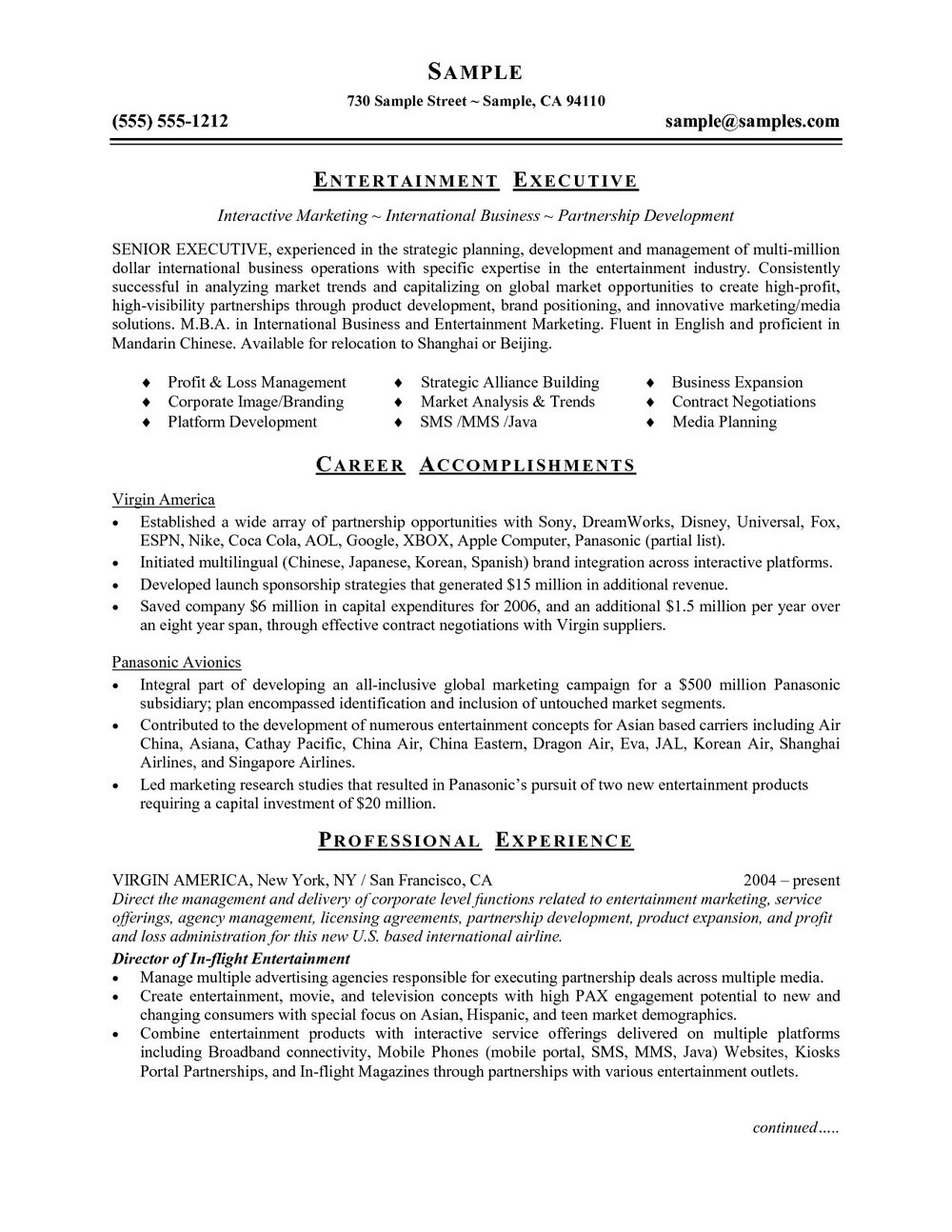 Functional Resume Template Word Free