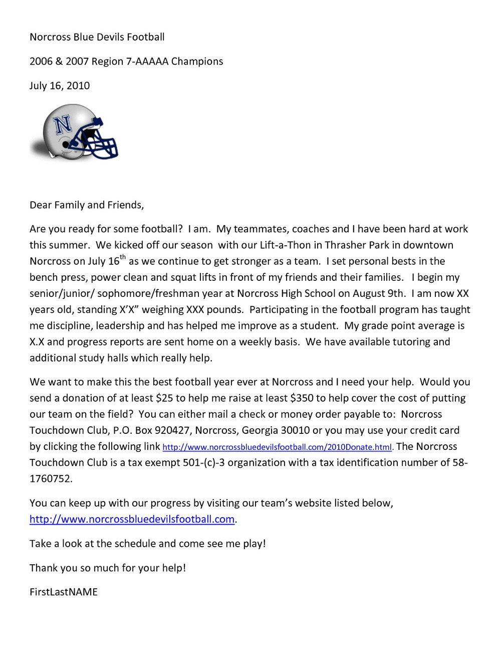 Fundraiser Donation Request Letter Template