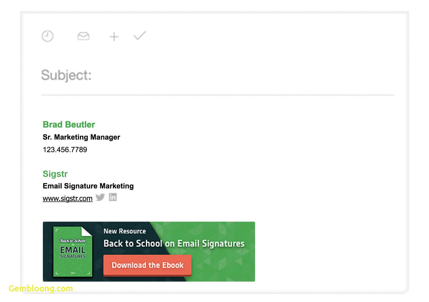 Html Email Signature Template Free Download