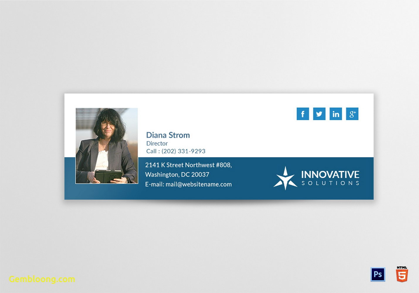 Html Email Signature Template Responsive