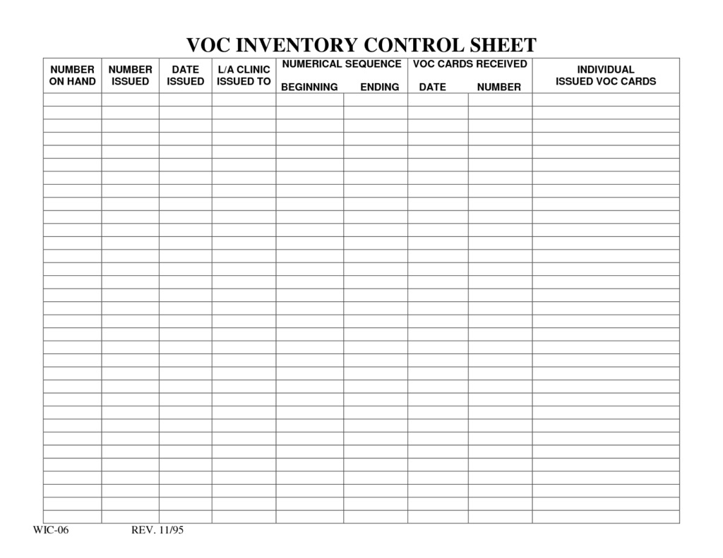 Inventory Spreadsheet Templates