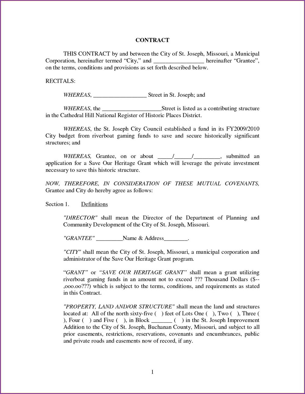 Investment Contract Template Word