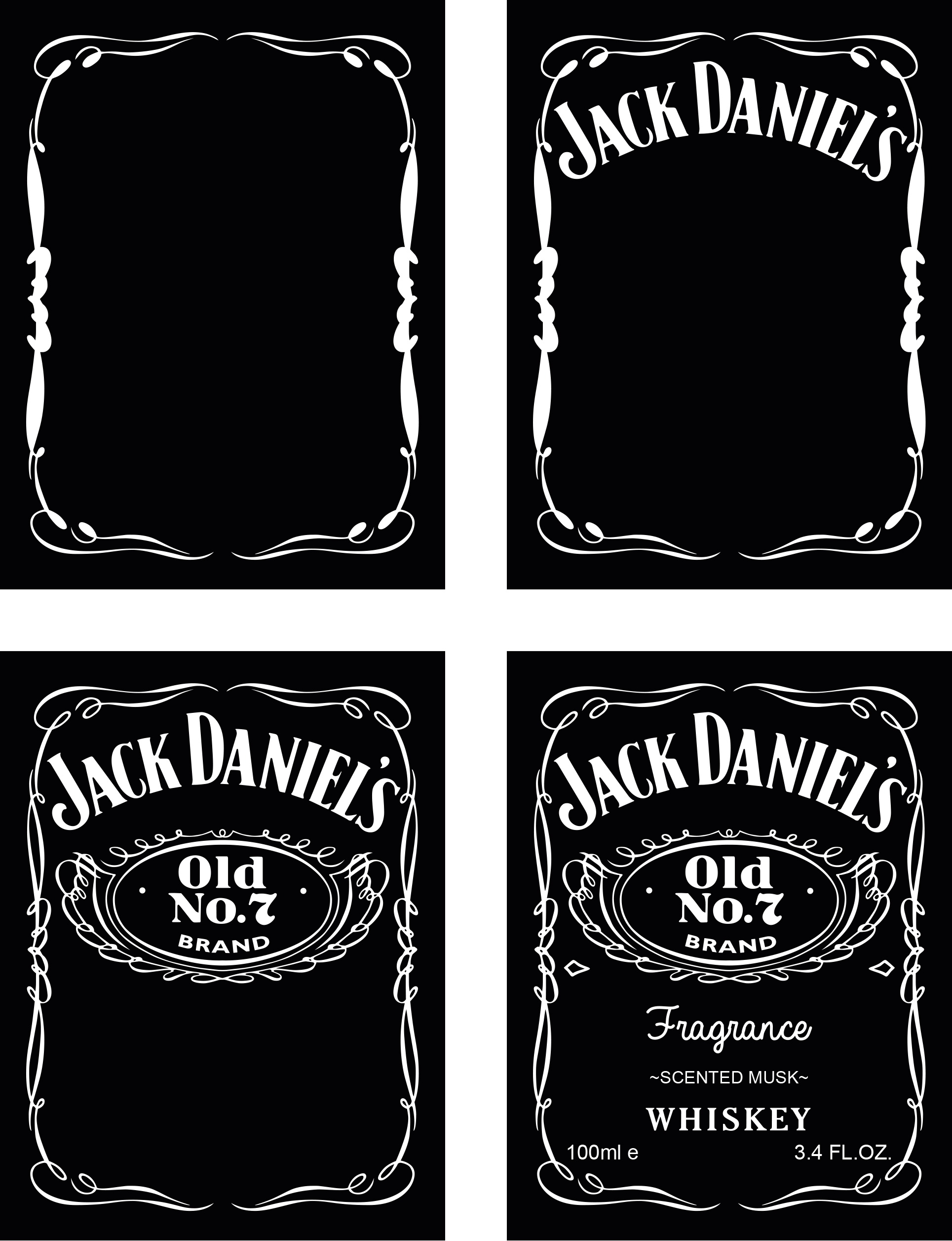 Jack Daniels Label Template Psd