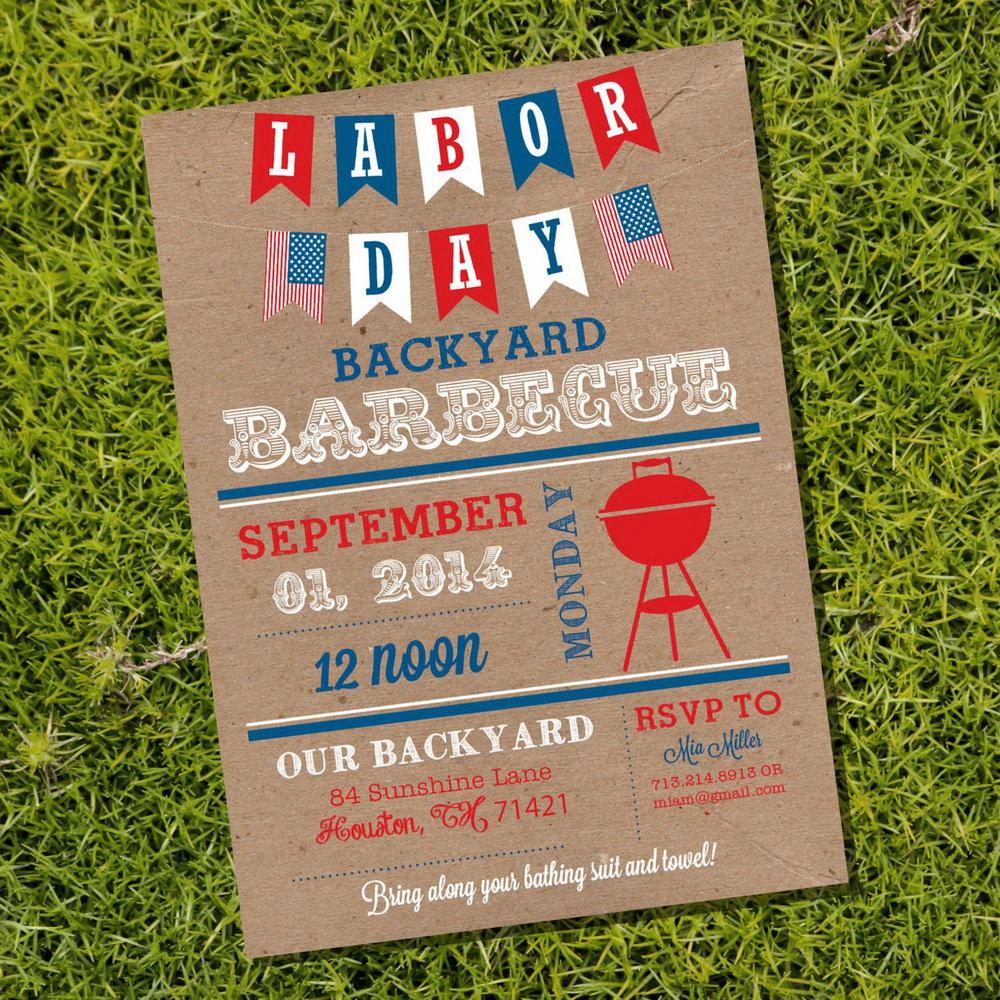 Labor Day Bbq Invitation Template