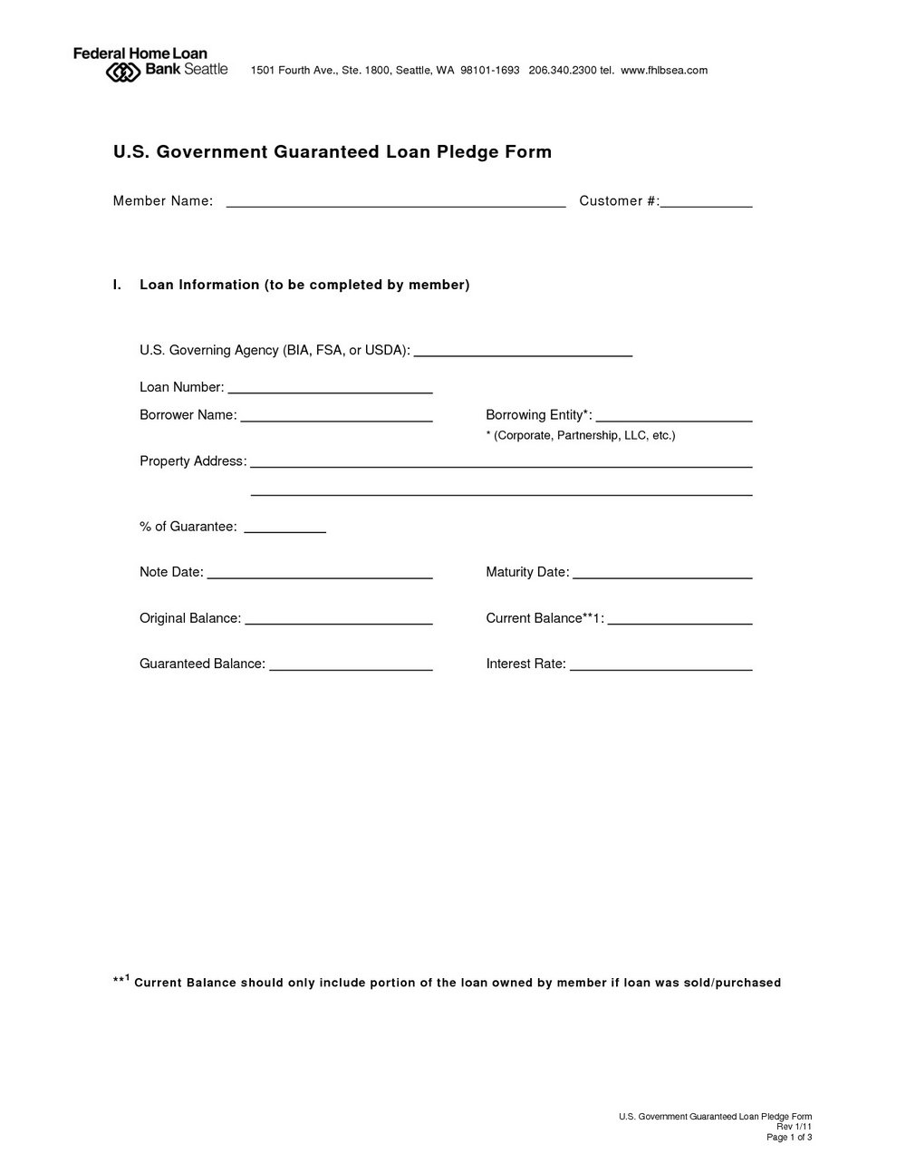 Loan Repayment Document Template