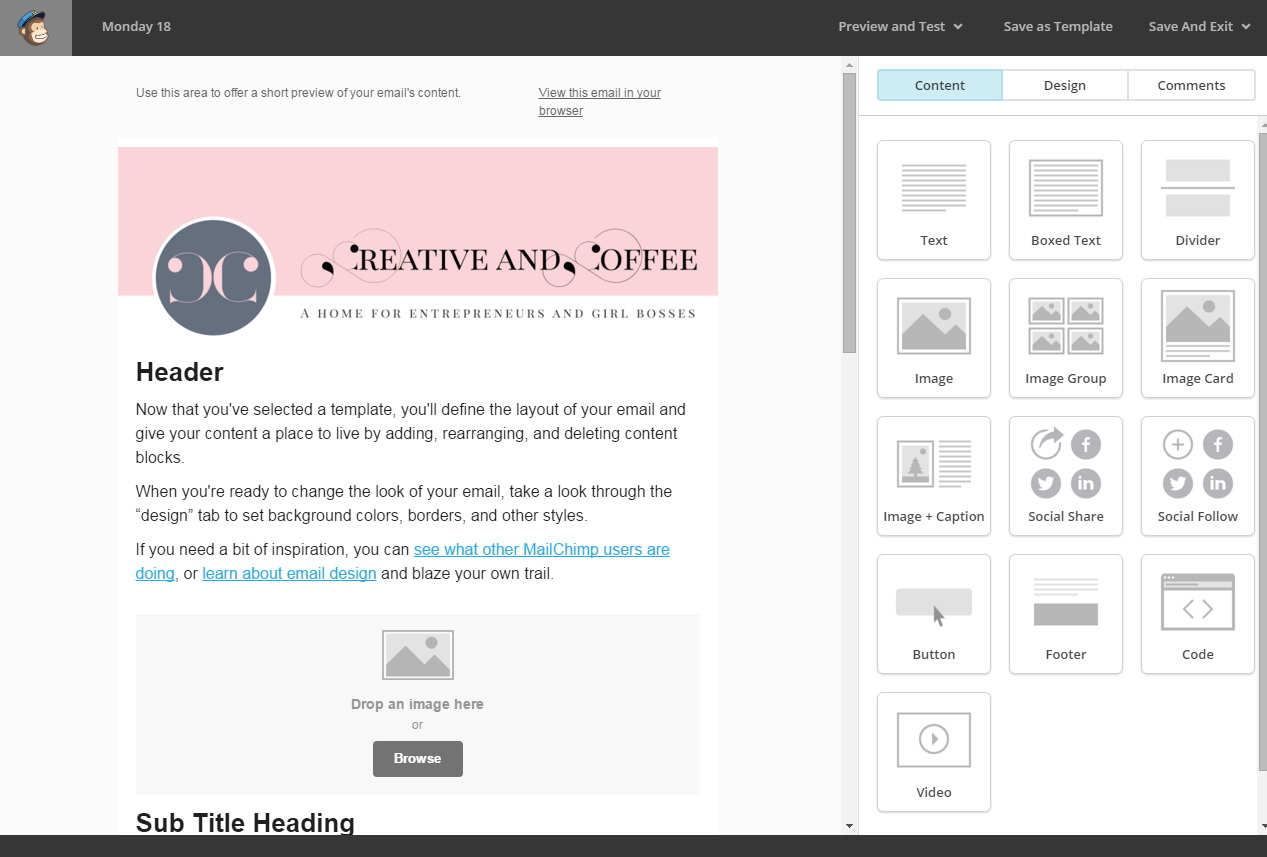 Mailchimp Example Email Templates