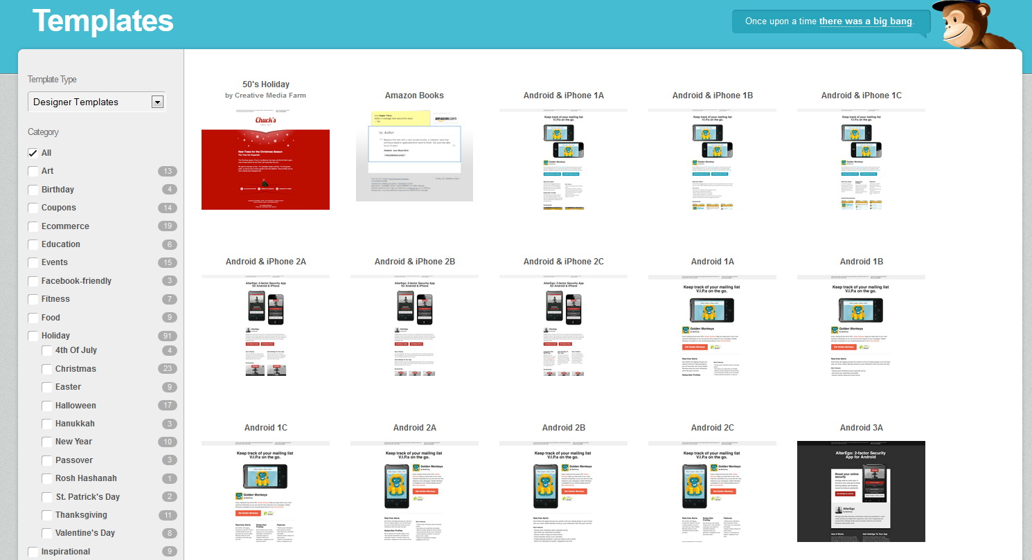 Mailchimp Sample Email Templates