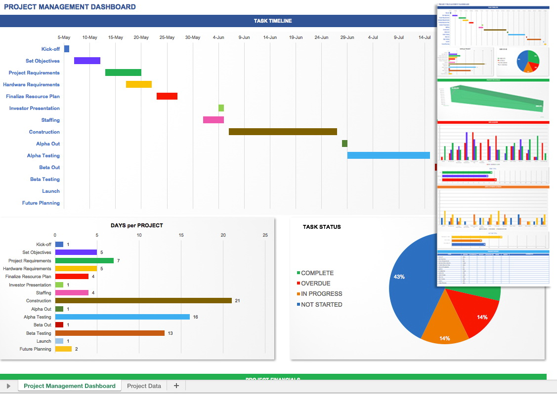 Microsoft Project Dashboard Templates