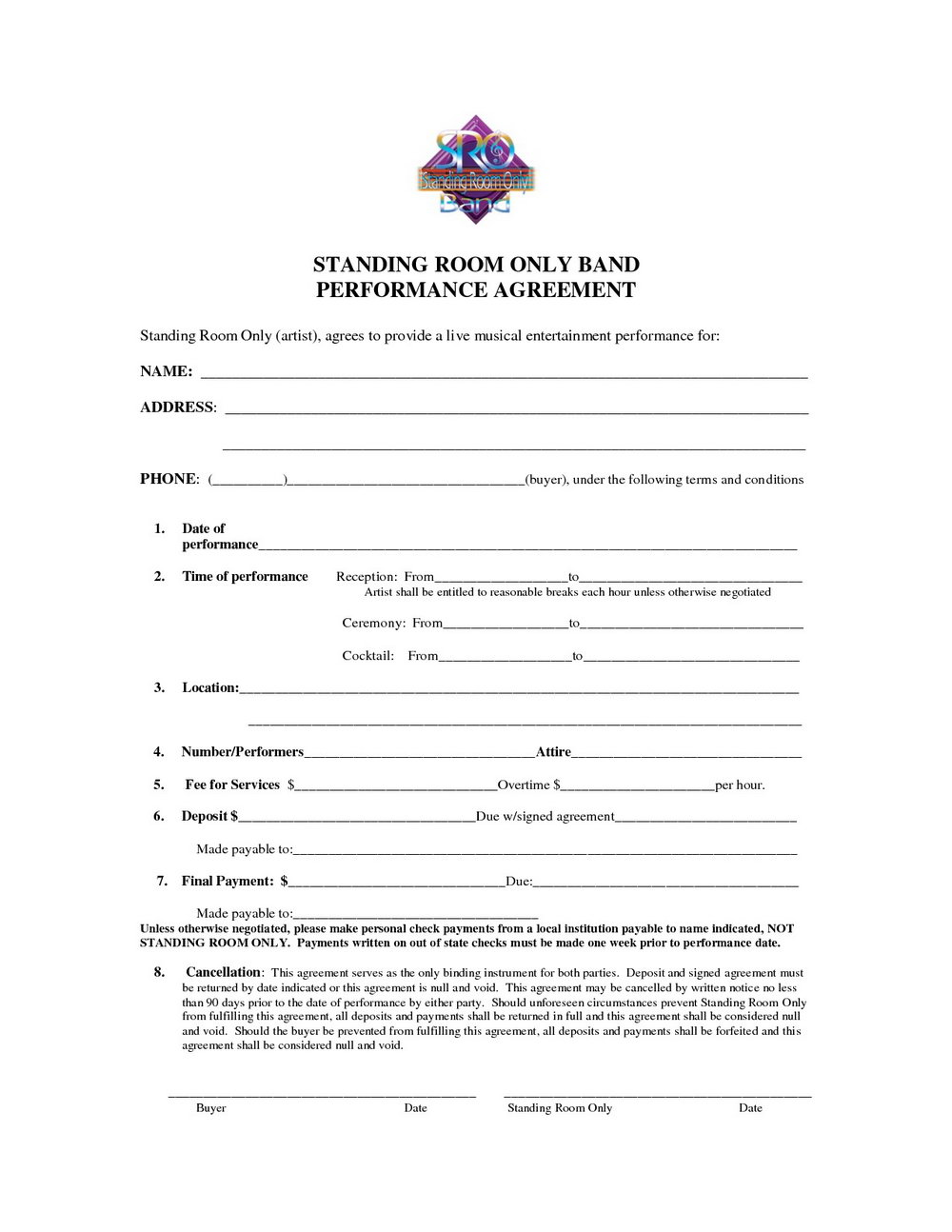 Music Artist Contract Template