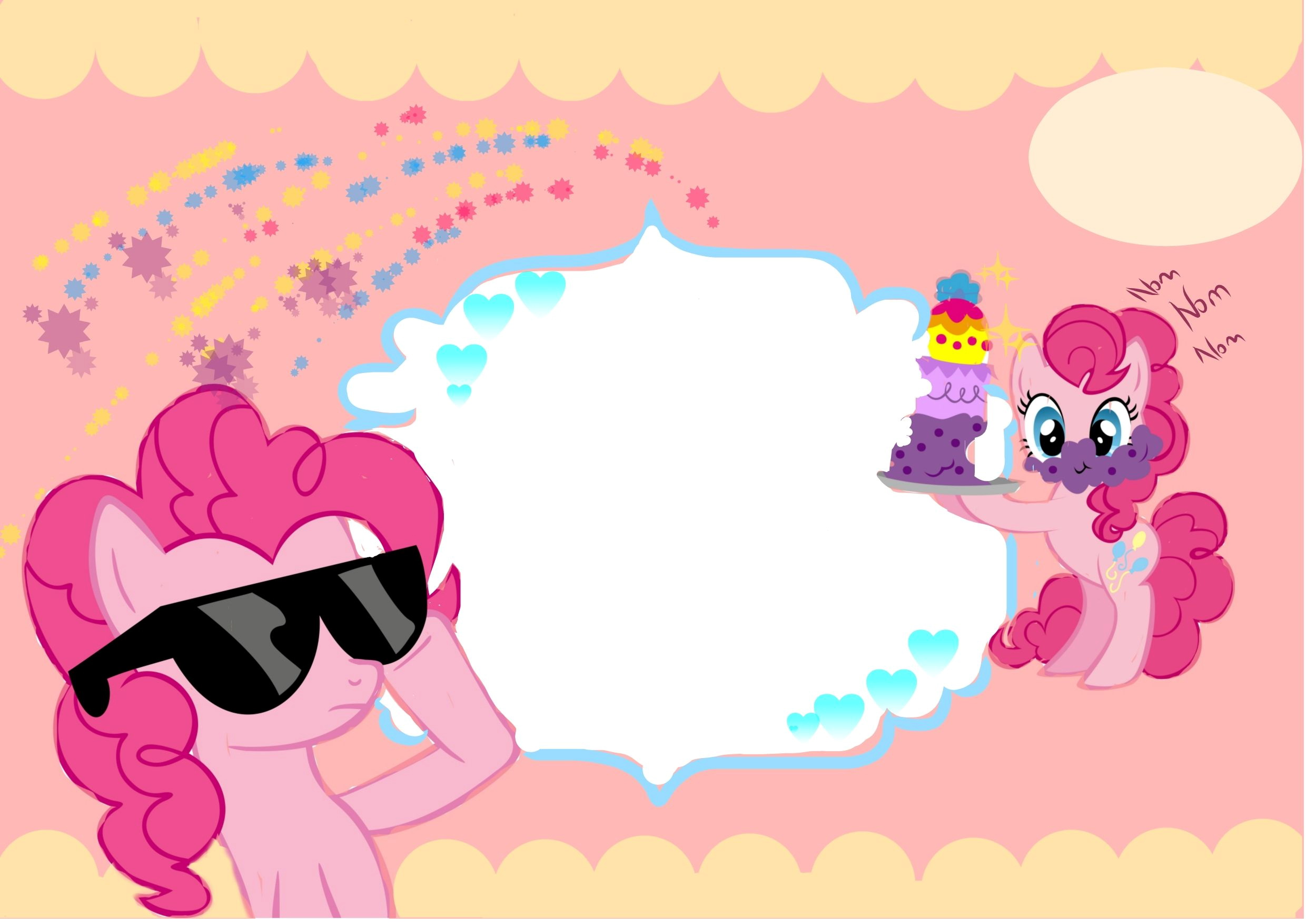 My Little Pony Birthday Invitation Card Template