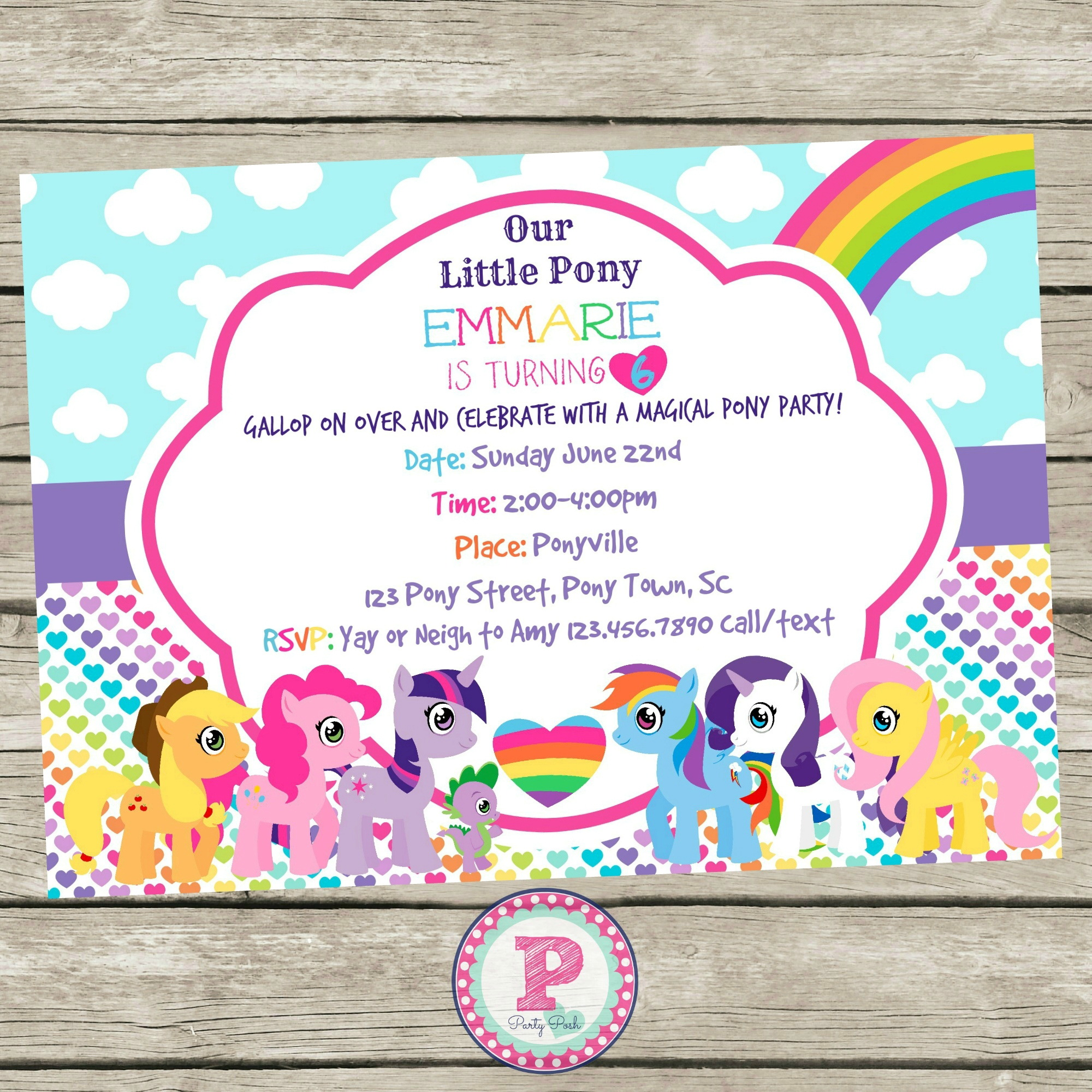My Little Pony Birthday Invitation Template Free