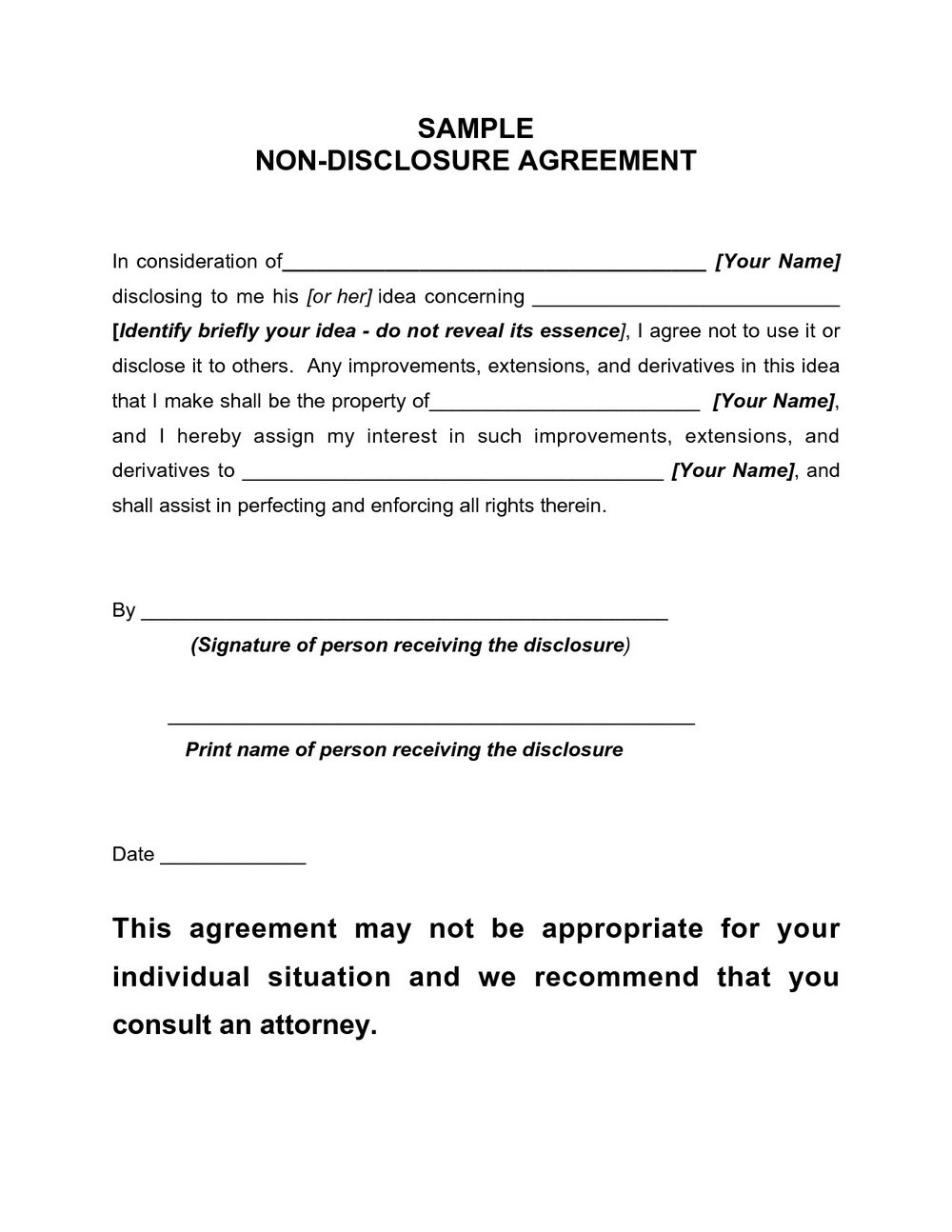 Nda Agreement Template Uk