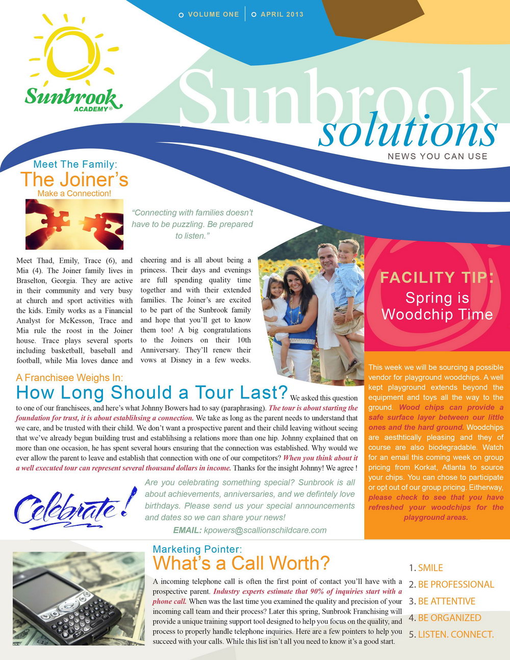 One Page Newsletter Template Indesign