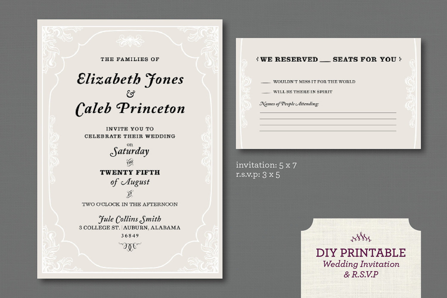 Online Wedding Rsvp Template