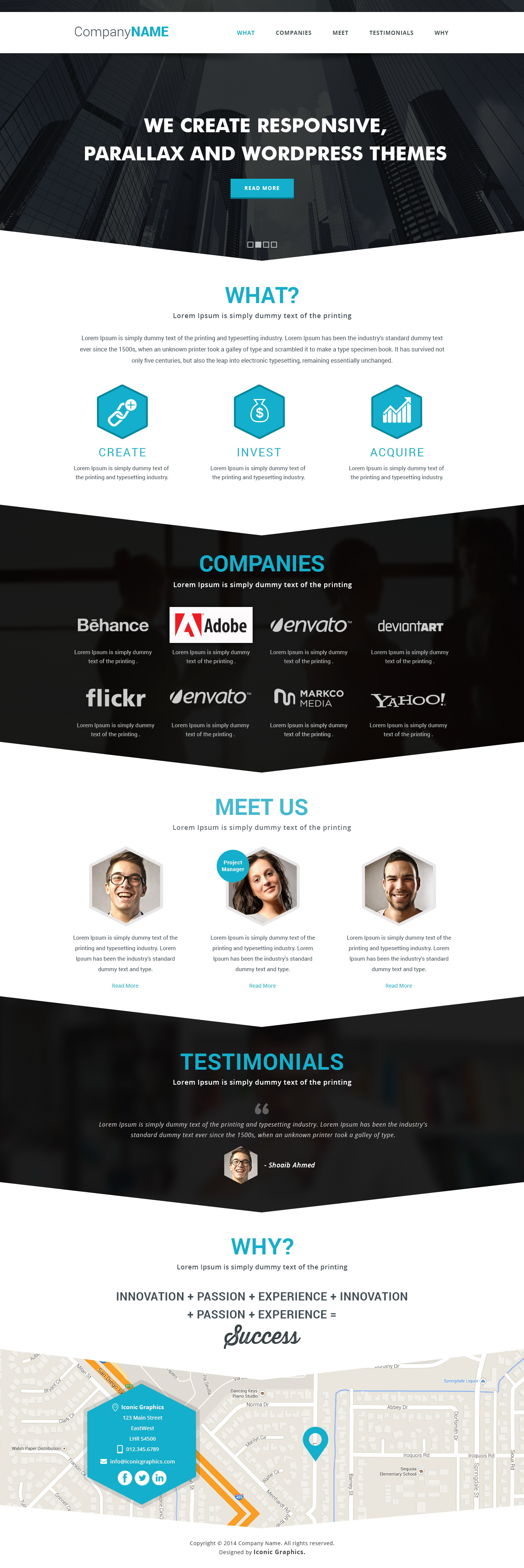 Parallax Website Template Free