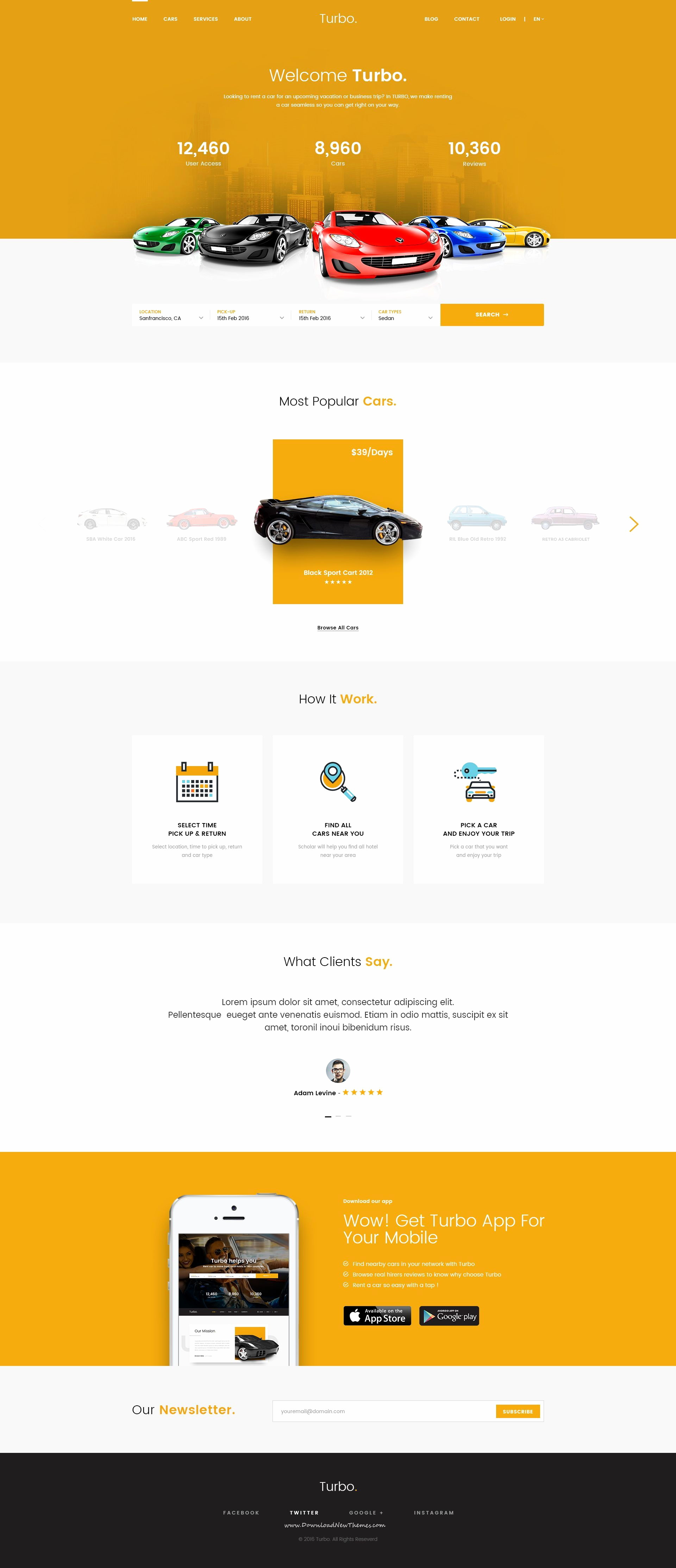 Parallax Website Template In Bootstrap