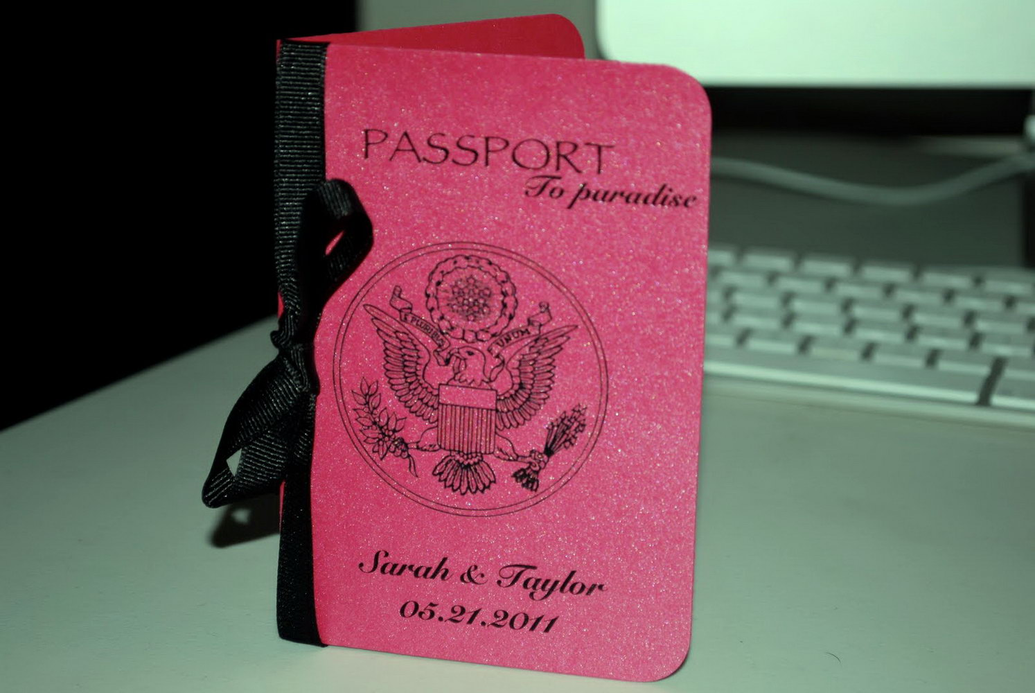 Passport Style Invitation Template Free