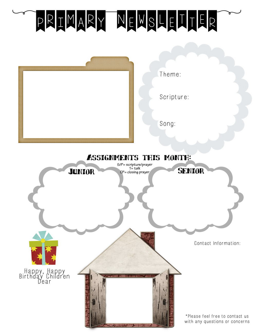 Preschool Classroom Newsletter Templates Free