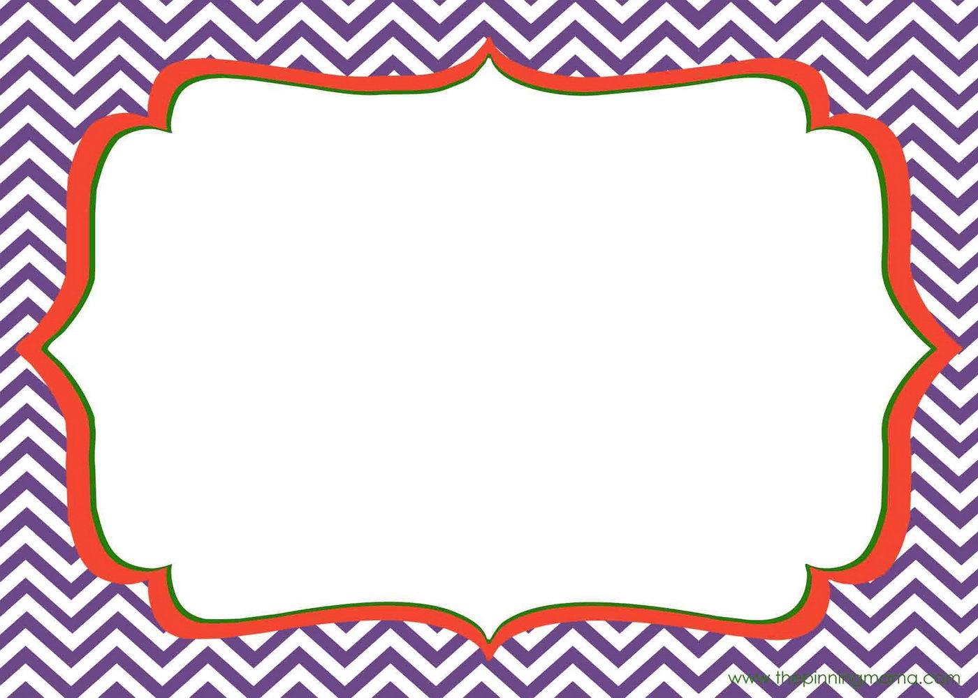 Printable Blank Invitation Templates