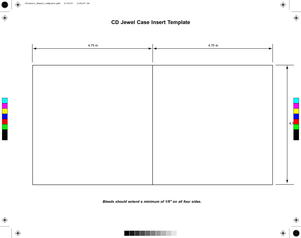 Printable Cd Sleeve Template