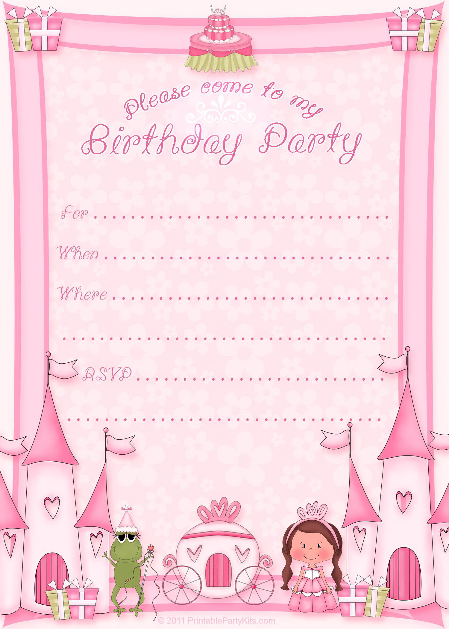 Printable Invitation Templates Birthday