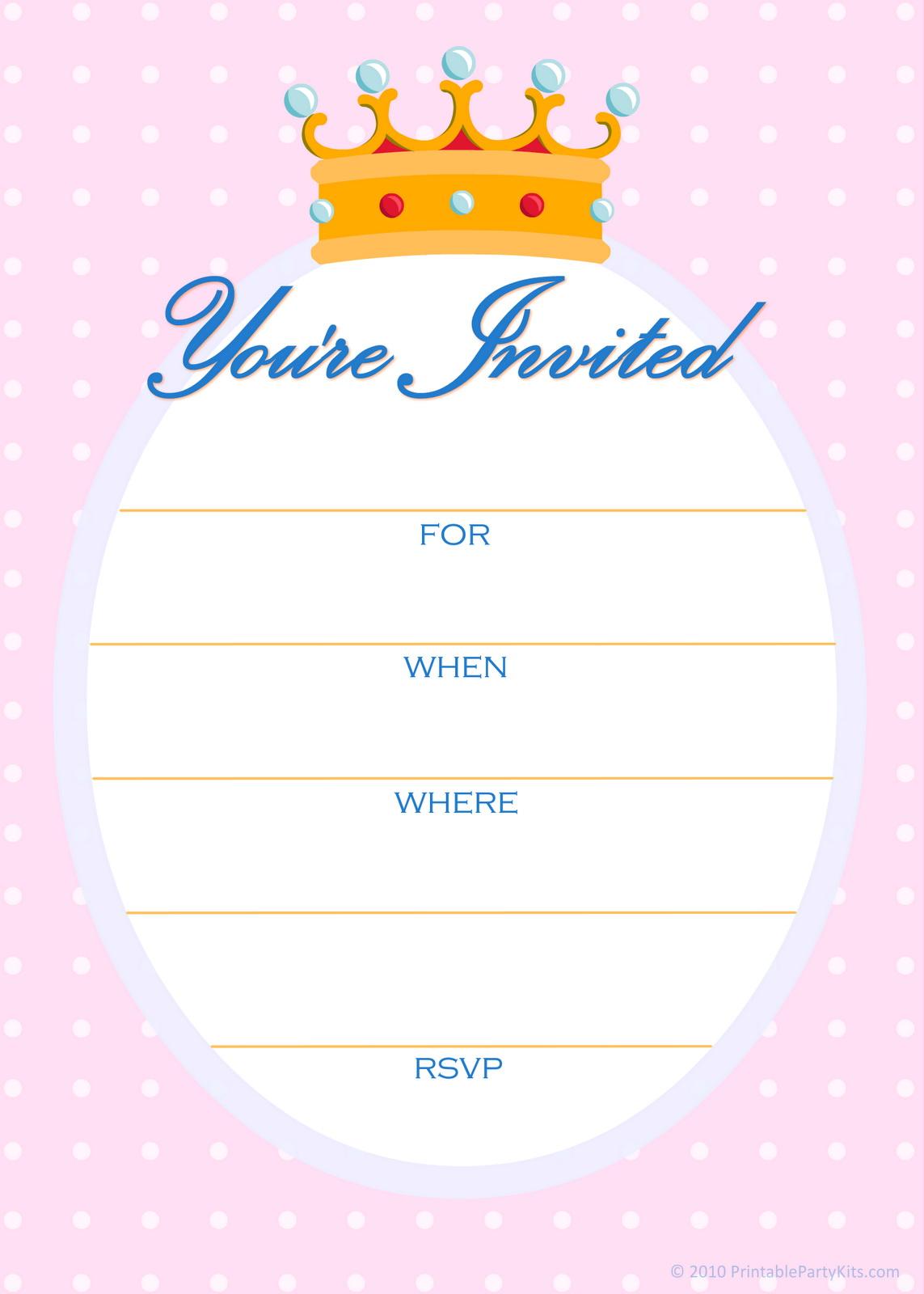 Printable Invitation Templates Free