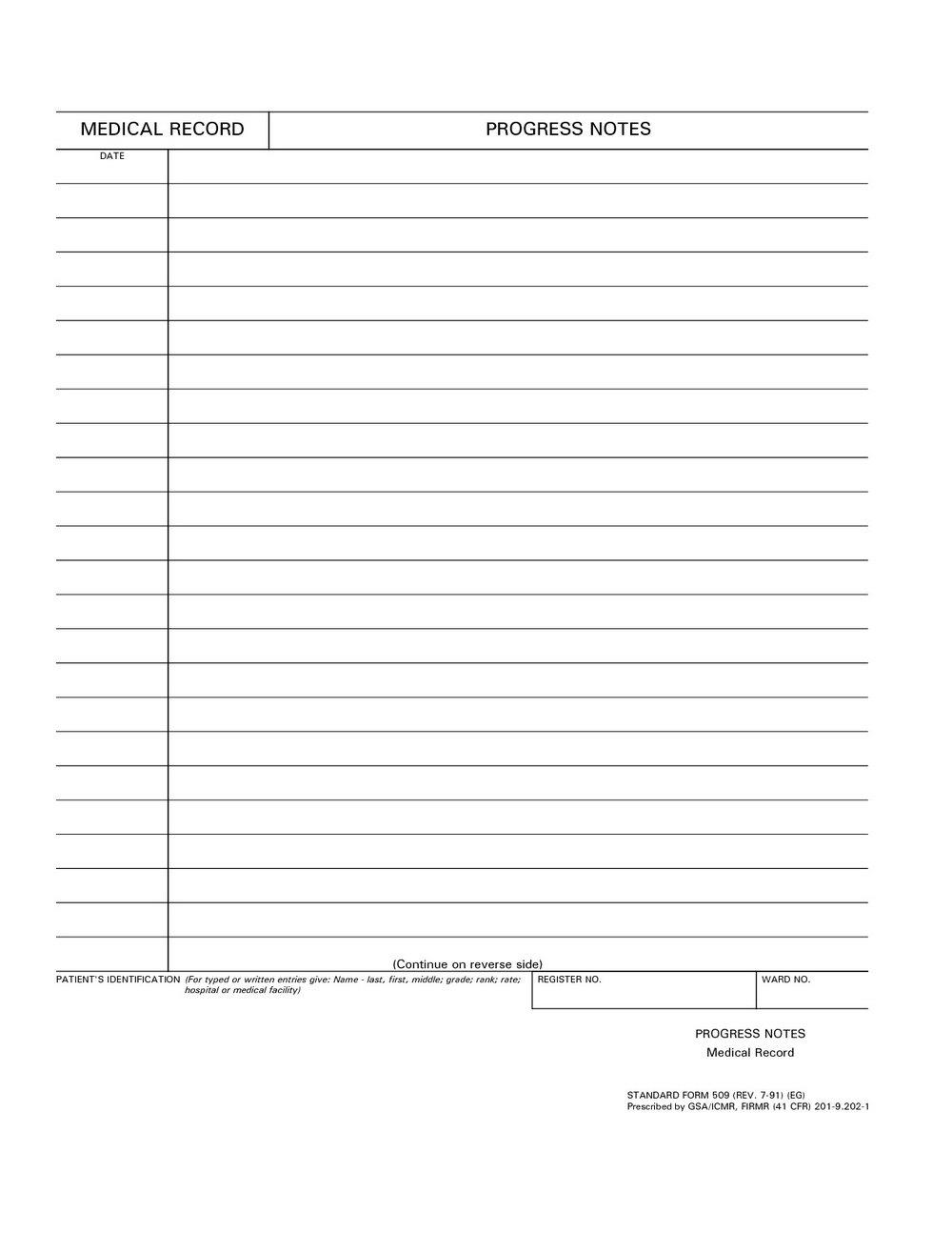 Progress Notes Template