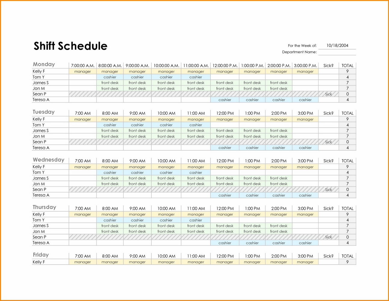 Project Work Back Schedule Template Excel