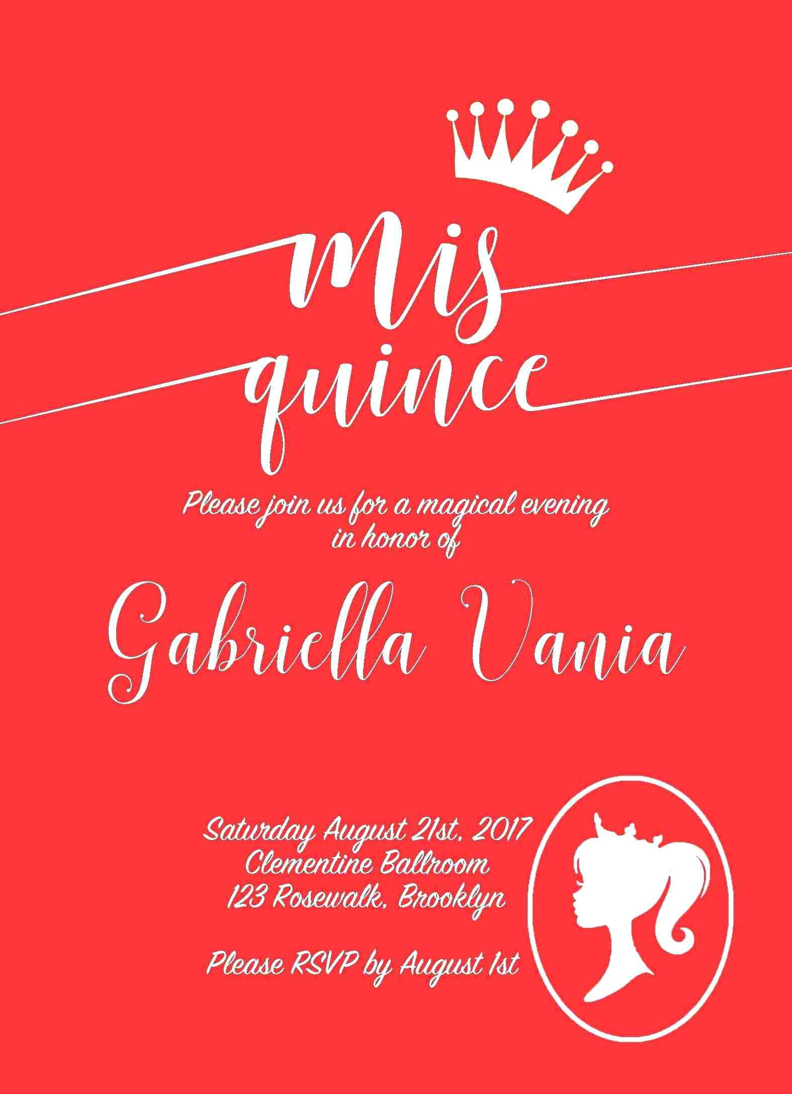 Quinceanera Invitation Blank Templates