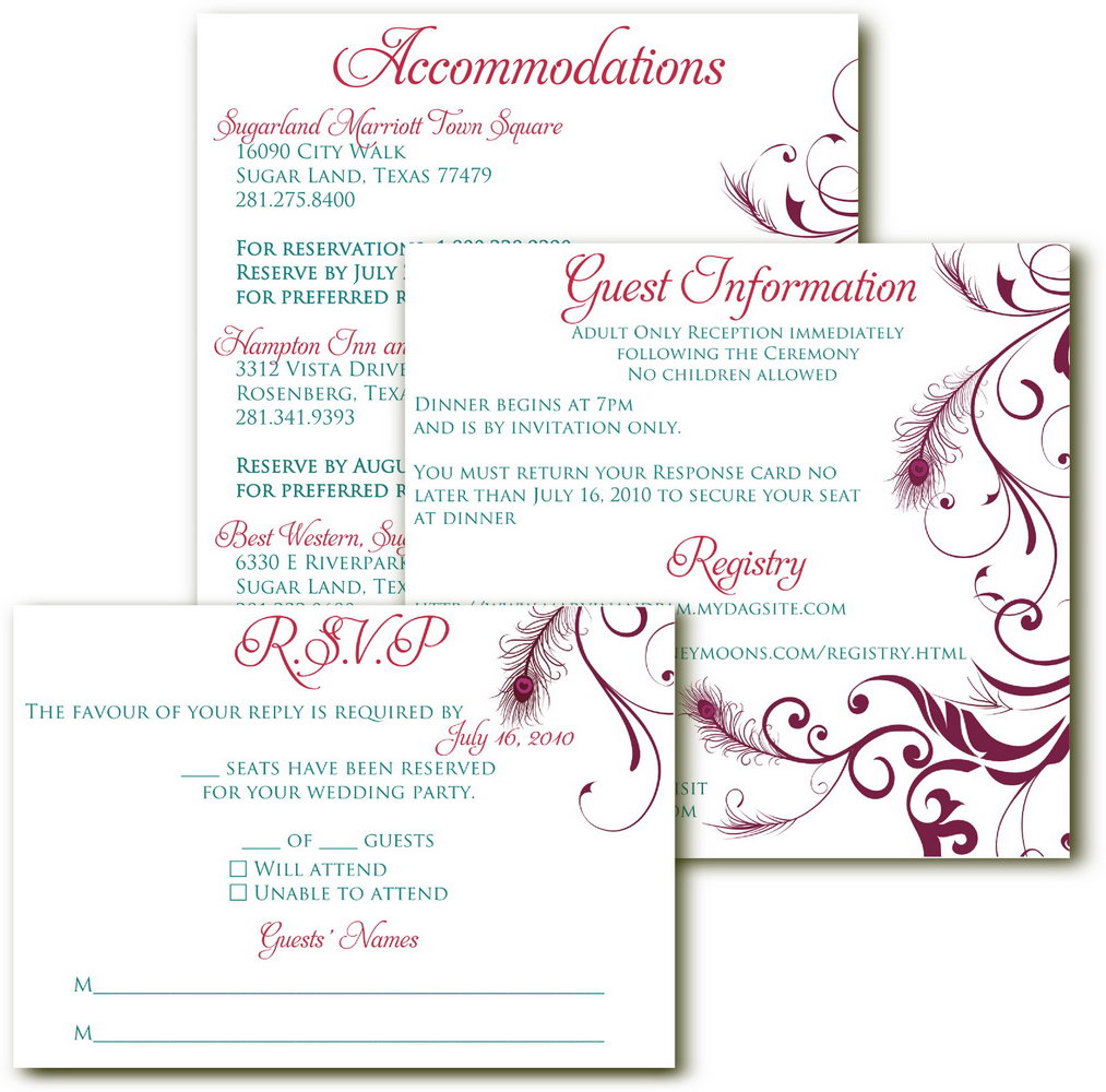 Rsvp Cards Wedding Template