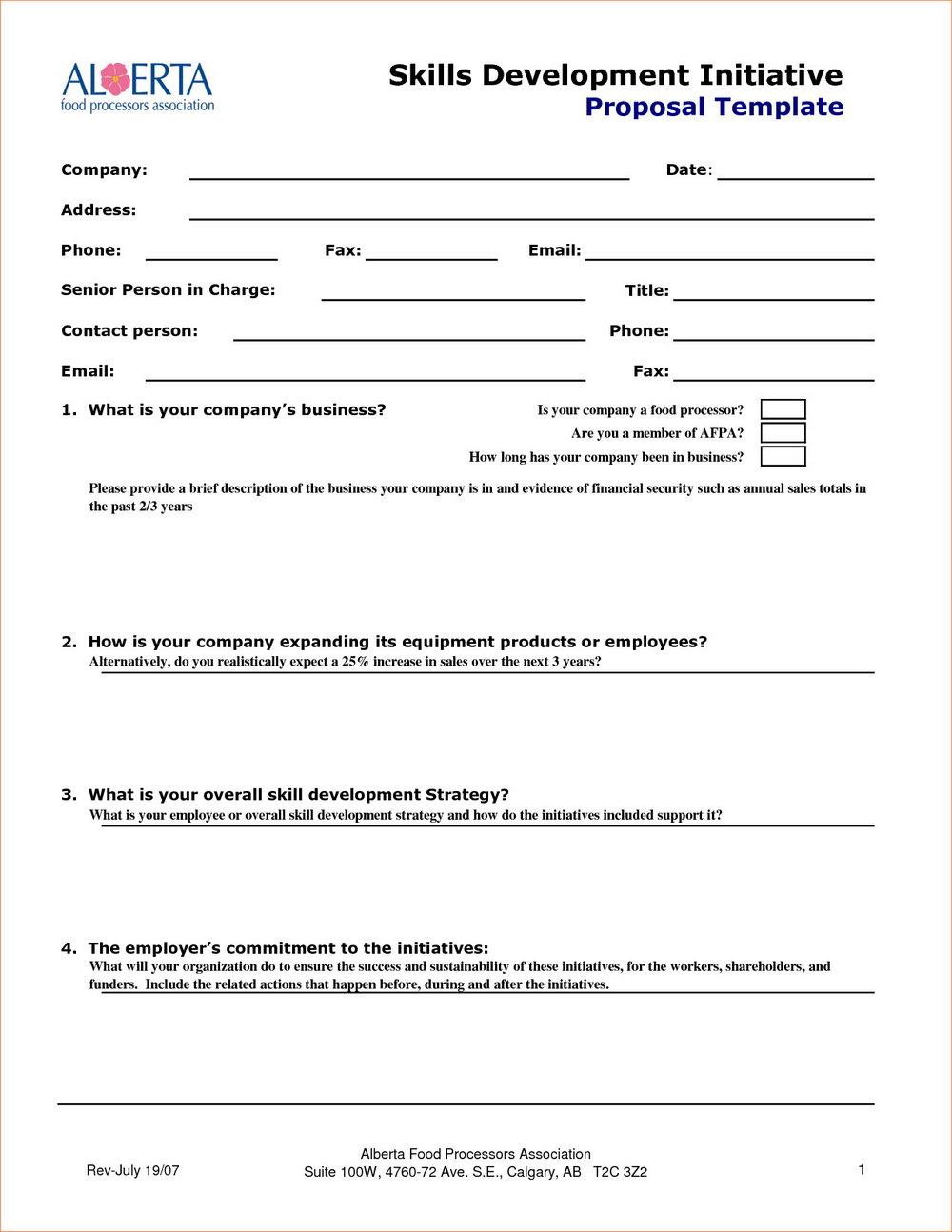 Sales Proposal Template Pdf