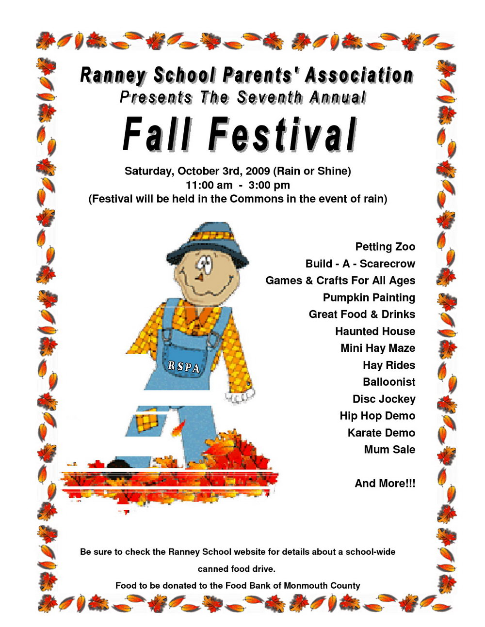School Fall Festival Flyer Templates Free