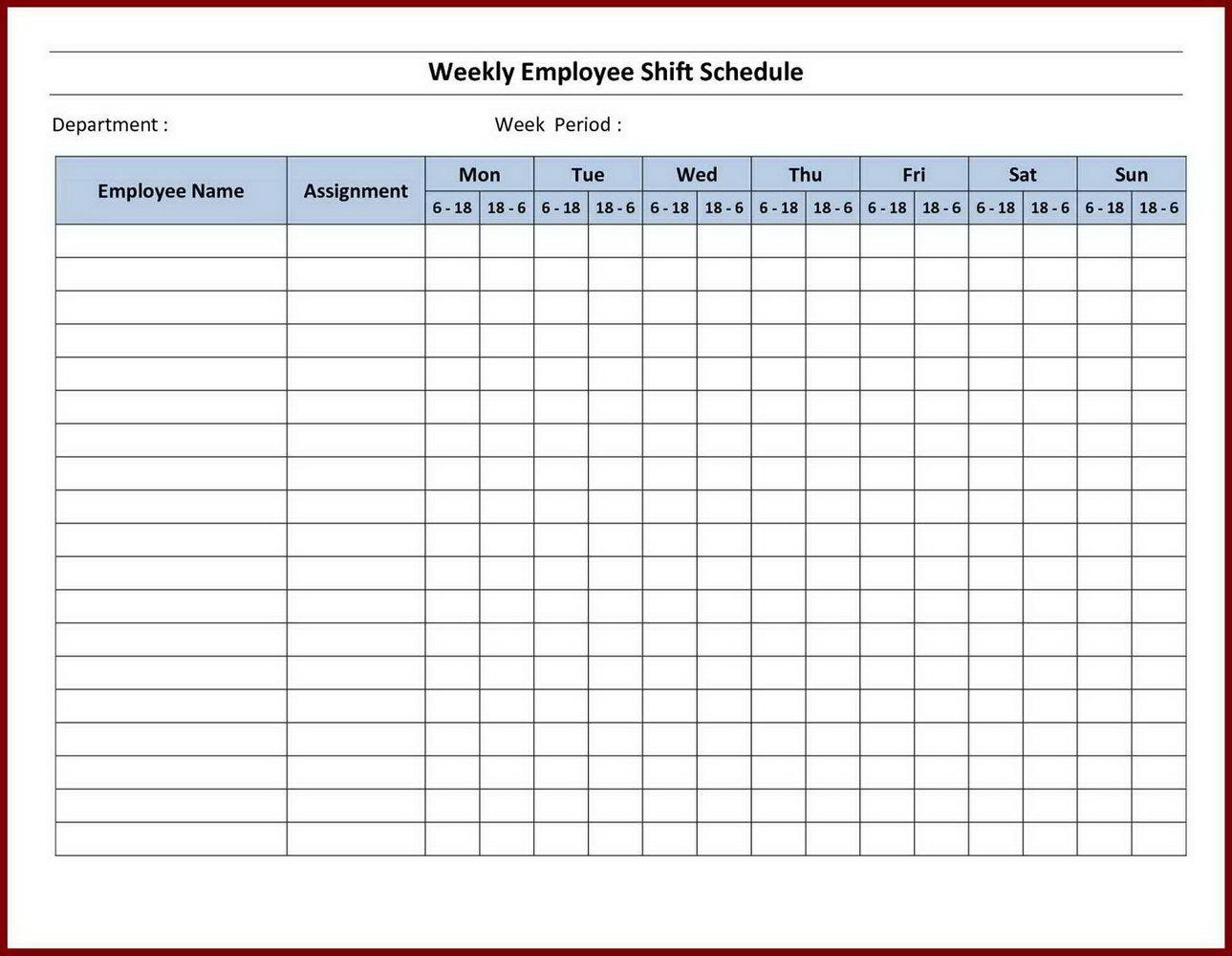 School Schedule Maker Template