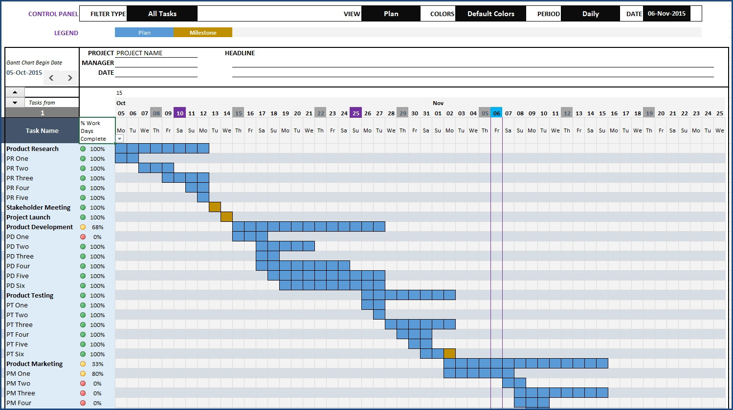 Gantt Chart Maker Excel Template With Simple Excel Gantt Chart T