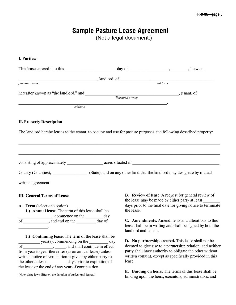 Simple Room Rental Agreement Template