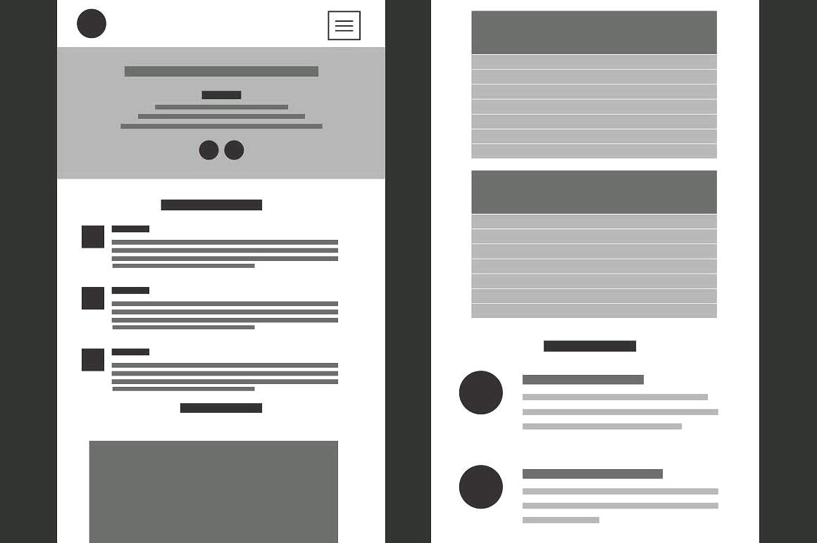 Simple Website Wireframe Template